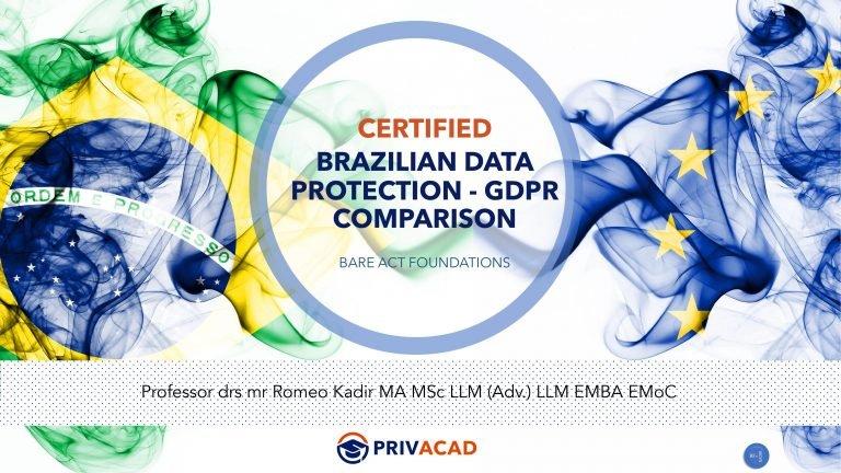 BRAZILIAN DATA PROTECTION vs GDPR